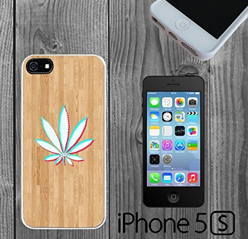 3D Weed on Wood Custom made Case/Cover/skin FOR iPhone 5/5s -White - Rubber Case ( Ship From CA)