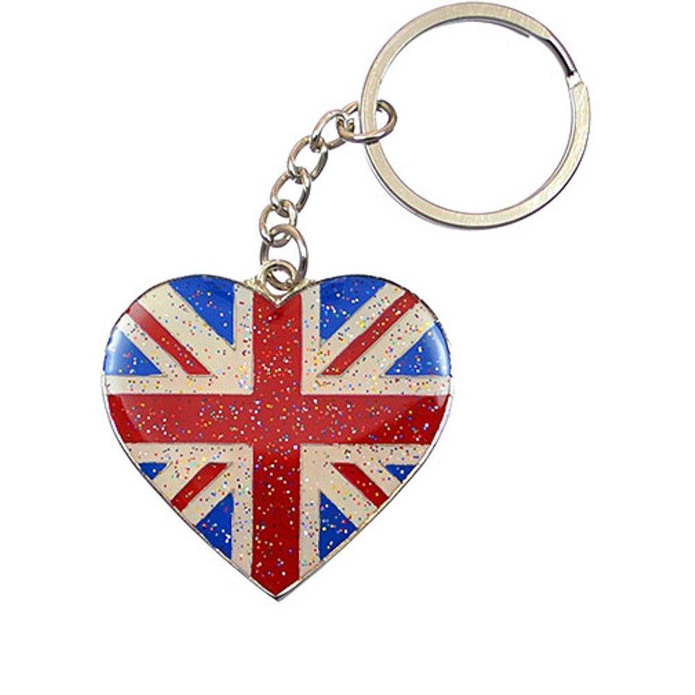 Union Jack Flag Keyring Keychain With Disc Souvenir Gift UK GB United Kingdom