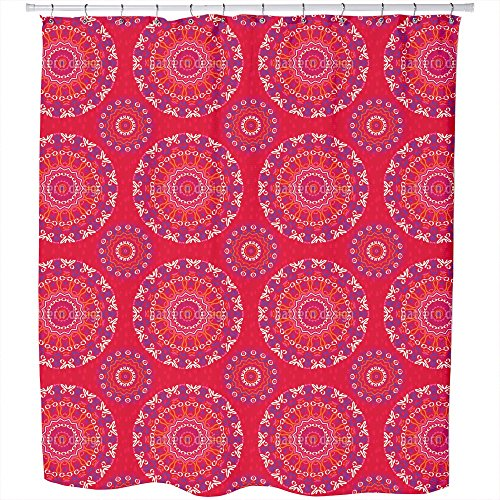Mandala Kids Shower Curtain: Large Waterproof Luxurious Bathroom Design Woven Fabric by uneekee