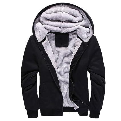 ZKOO Uomo Felpe Giacche Fodera in Cashmere Cappotti con Cappuccio Caldo Zip Cappotto  Giacche Felpa Outwear  Amazon.it  Abbigliamento f675691f695