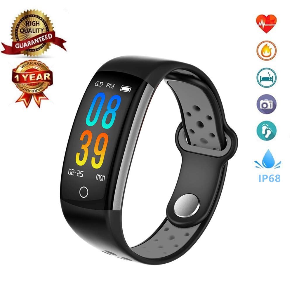 Fitness Tracker Smart Watch,IP68 Waterproof Activity Tracker with Heart Rate Blood Pressure Calorie Counter Pedometer for for Men, Women,and Kids by MOZEEDA