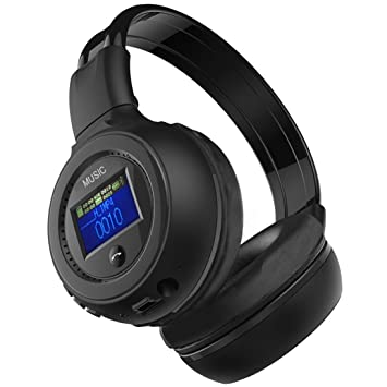 Plegable auriculares inalámbricos con micrófono, C Est auriculares estéreo auriculares diadema ajustable con pantalla