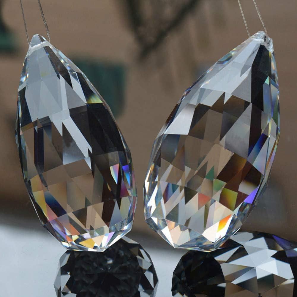 30MM Rugby Shape SunAngel Clear Corn Balls Pendants /& Clear Jewelry Crystals Pendants /&Chandelier Suncatchers Prisms Hanging Ornament Prisms Rainbow Crystal Pendants