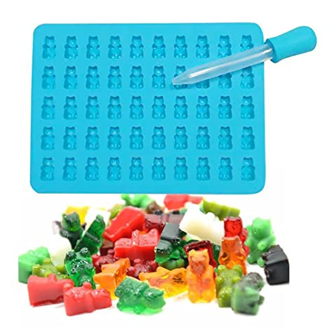 Molde de silicona cubitos de hielo, Forepin® 3 Pack Ice Cube bandejas Gelatina Moldes