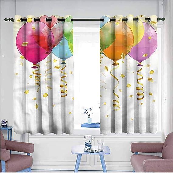 VIVIDX - Cortinas para Puerta corredera, diseño de pájaros, diseño de Rosas románticas Vintage, decoración del Espacio: Amazon.es: Hogar