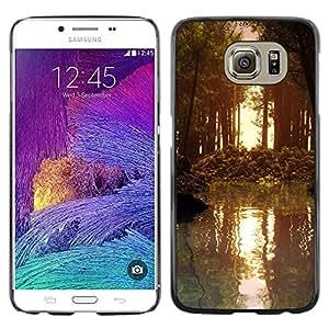 Smartphone Rígido Protección única Imagen Carcasa Funda Tapa Skin Case Para Samsung Galaxy S6 SM-G920 Nature Forrest Sun / STRONG