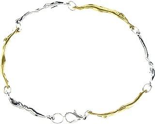 product image for Man/Woman Sterling & Gold Link Bracelet