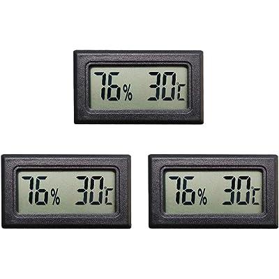 Thlevel Mini Termómetro Higrómetro Digital Interior de Temperatura y Humedad (3 PCS)
