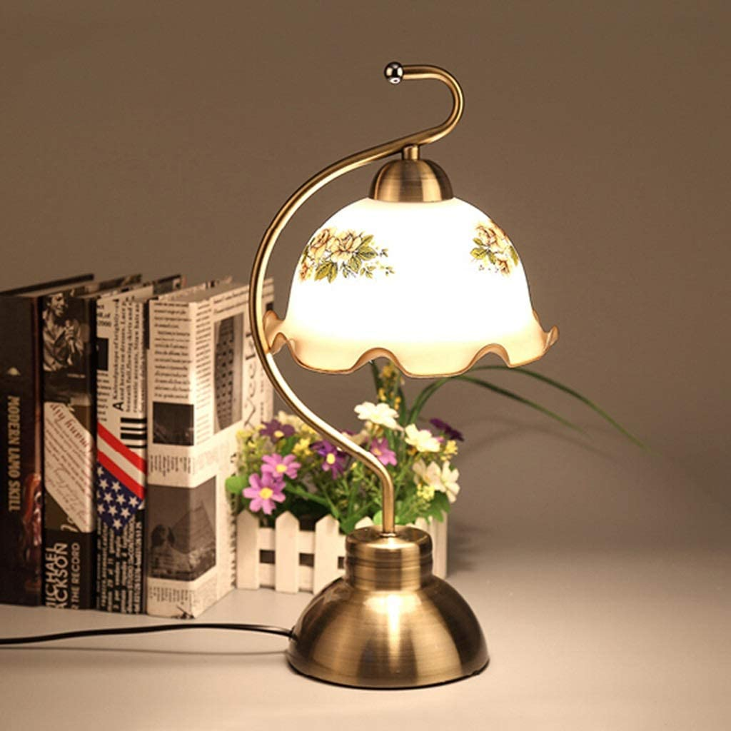 GPZ-table lamp Table Lamp Living Room Decor Bedroom Dimmable Touch Control Desk Lamps Modern European Rustic Home Decoration Energy Level [A++] (Color : Touch Switch) Dimmer Switch
