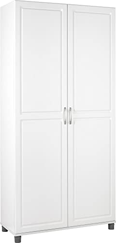 """SystemBuild Kendall 36"""" Utility Storage Cabinet, White"""