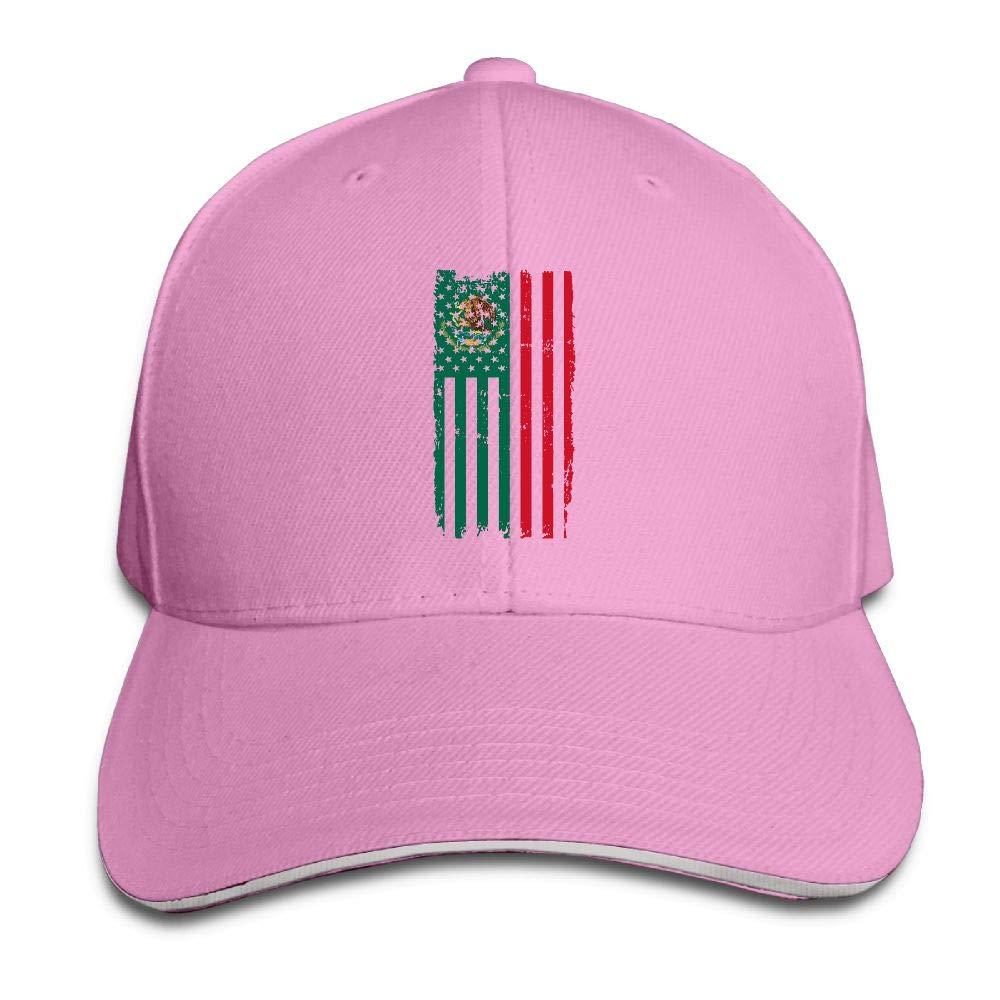 JustQbob1 Mexico America Flag Outdoor Snapback Sandwich Cap Adjustable Baseball Hat Hip Hop Hat