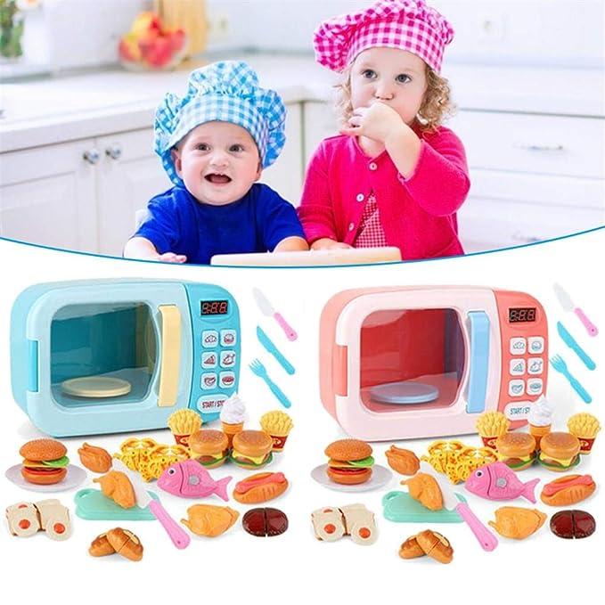 Playset de cocina para niños eléctrico a pilas Microondas ...