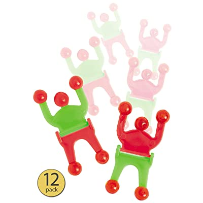 Set of 12 - Wall Walker Toy - Wall Crawler Sticky Toy - Wall Tumbler - Wall Climber - Sticky Wall Crawler Men - Bulk Pack: Toys & Games [5Bkhe0802299]