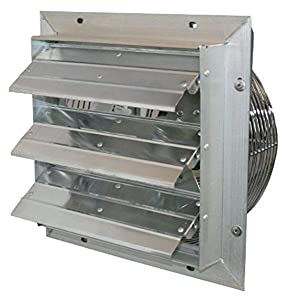 "J&D Manufacturing VES10C ES Aluminum Shutter Fan, 10"" Size, 115V, 1/8 hp, 3 Speed, 9' Cord,Chrome"