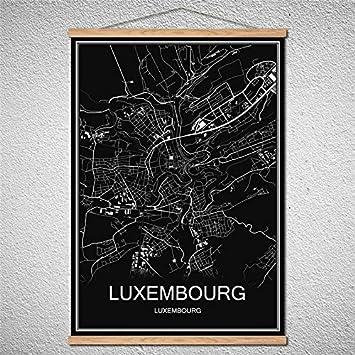 TIANLIANG Mit Rahmen Welt Stadtplan Öl Malerei Moderne Poster Leinwand Bild  Cafe Bar Einrichtung Wohnzimmer,