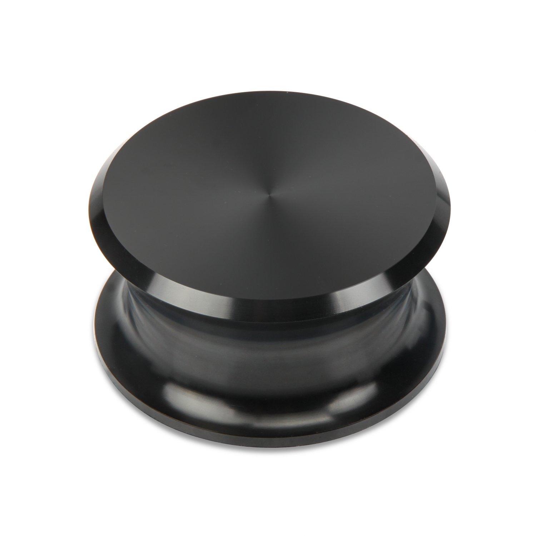 BigBen LPレコード重量スタビライザーブラックマット保護革パッド付き   B01BMWI49I