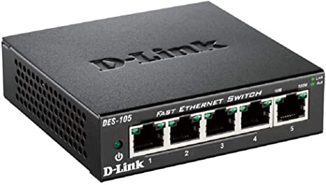 D-Link DES-105 Switch 5 Porte Fast Ethernet, Alloggiamento in ...