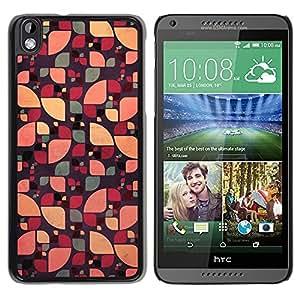 Caucho caso de Shell duro de la cubierta de accesorios de protección BY RAYDREAMMM - HTC DESIRE 816 - Floral Abstract Green Color