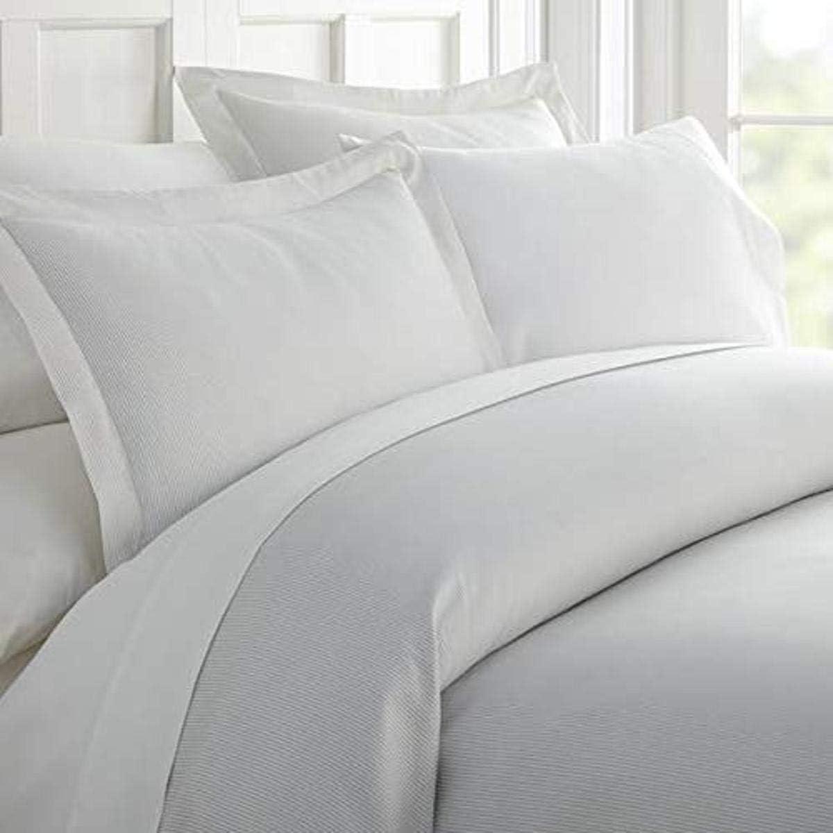 Linen Market Patterned 3 Piece Duvet Cover Set, Twin/Twin Extra Long, Pinstriped Light Gray