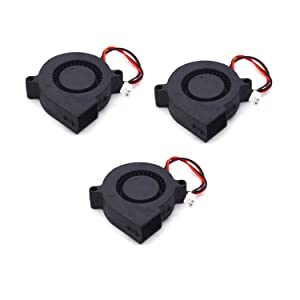 Antrader 4020 12V DC Brushless Radial Cooling Turbo Blower Fan 40x40x20mm for DIY 3D Printer Extruder Humidifier and Other Small Appliances Series Repair Replacement 3-Pack