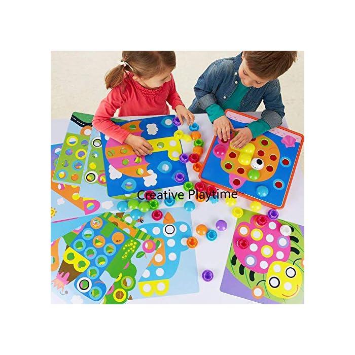 61wjijfhOfL : primero presione el botón de color en el tablero colgante de mosaico, luego su hijo puede crear una imagen de estilo de dibujos animados vívida única en el tablero colgante de acuerdo con su propia creatividad e imaginación. ¡Mejora las habilidades de diseño de tu hijo! : Hecho de materiales ABS amigables con el medio ambiente, el color es brillante, la superficie es redonda y suave y no daña la mano. El diseño del botón redondo proporciona la máxima seguridad para su hijo y juega con confianza. Satisfacer las necesidades de los niños y los padres y asegurar una vida más larga. Ha superado las normas de seguridad de pruebas y la certificación CE. : la placa para colgar es liviana y portátil, lo cual es muy adecuado para niños que esperan en el interior durante mucho tiempo. Es conveniente para los padres y los niños usar el tiempo libre, una bandeja de plástico, que puede organizar mejor el almacenamiento de los juguetes, almacenar los botones de manera conveniente y llevarlos a parques al aire libre, playas o vacaciones. Se recomiendan niños mayores de 2 años.