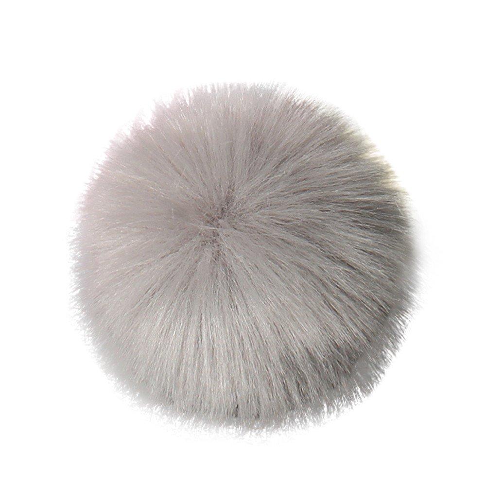 squarex DIY Faux Fox Fur Fluffy Pompom Ball for Knitting Hat Hats