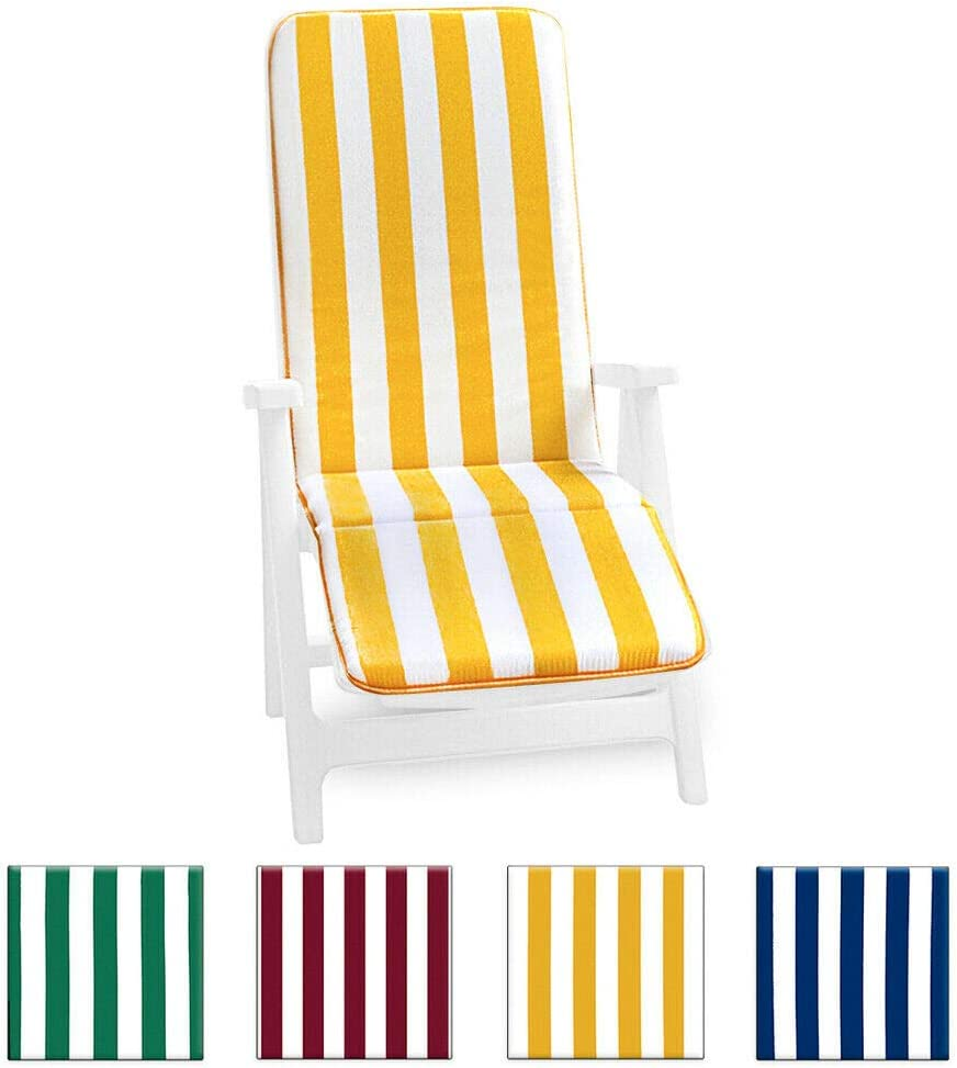 Cojín para tumbona universal, plegable, reposapiés, para piscina, mar, jardín - tejido de algodón - modelo: Cairo, turquesa