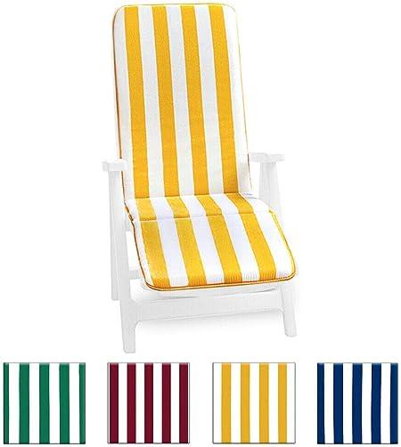 Cojín para tumbona universal, plegable, reposapiés, para piscina, mar, jardín - tejido de algodón - modelo: Cairo, VERDE: Amazon.es: Hogar