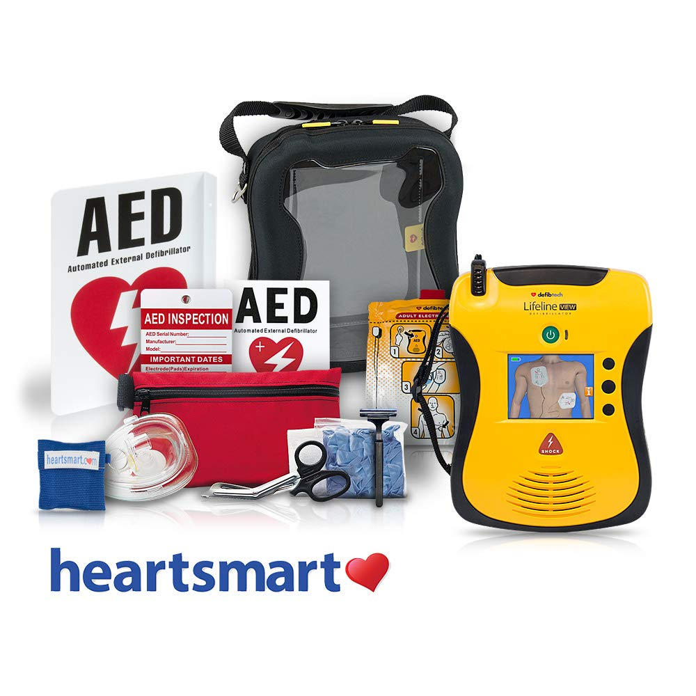 Heartsmart's Portable AED Defibrillator Package - Lifeline View Heartsmart.com
