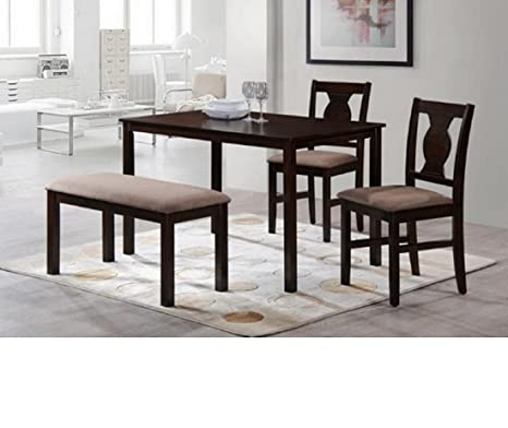421ff6d1adb HomeTown Artois Four Seater Dining Table Set (Walnut)  Amazon.in  Home    Kitchen