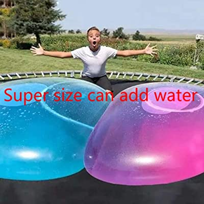 Long&Teng 2 pcs Bubble Balloon Transparent Bounce Inflatable Funny Toy Ball Inflatable Balls for Outdoor Indoor Play (Random Color): Toys & Games [5Bkhe1004517]