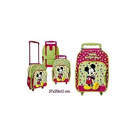 Disney - Carrito mochila grande, mickey-, 37x29x11cm.