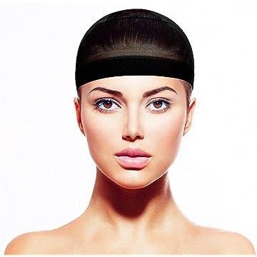 Lantusi Women Solid Wig Mesh Net Elastic Wig Cap Hair Wig Net Dresses