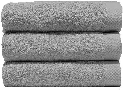 Lasa Juego Toallas, algodón 100%, Plata, Baño (100 x 150 cm ...