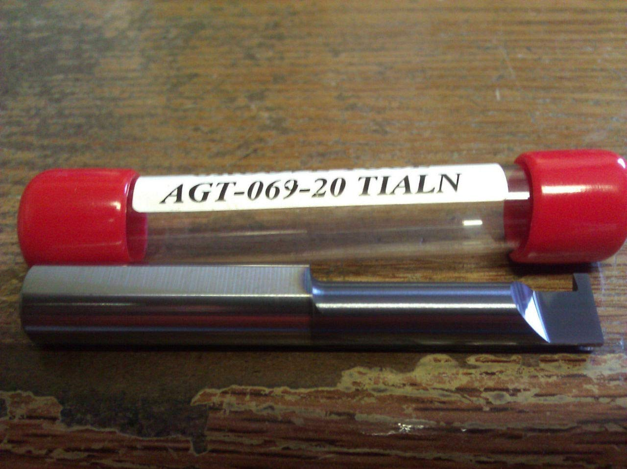 """New 3//8/"""" Solid Carbide Grooving Bar .069/"""" Groove TiAlN Coated AGT-069-16 TiAlN"""