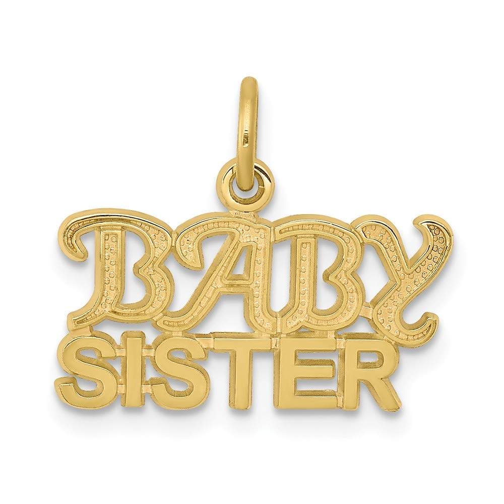 10K Yellow Gold Baby Sister Charm
