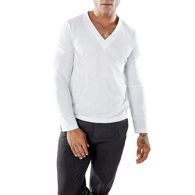 Blusa de Hombre de BaZhaHei, Camisetas de Manga Larga para Hombre del Camuflaje Casual de