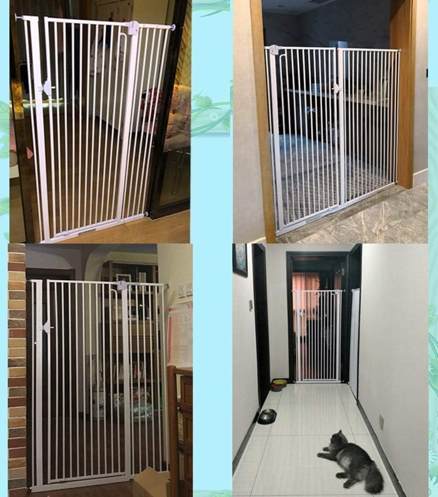H.yina Puertas de Escalera Puertas metálicas para Perros Extra Altas con Puerta para Mascotas pequeña, Montaje a presión para pasillos, 66-74 de Ancho, Blanco (tamaño: 66-69 cm de Ancho): Amazon.es: Hogar