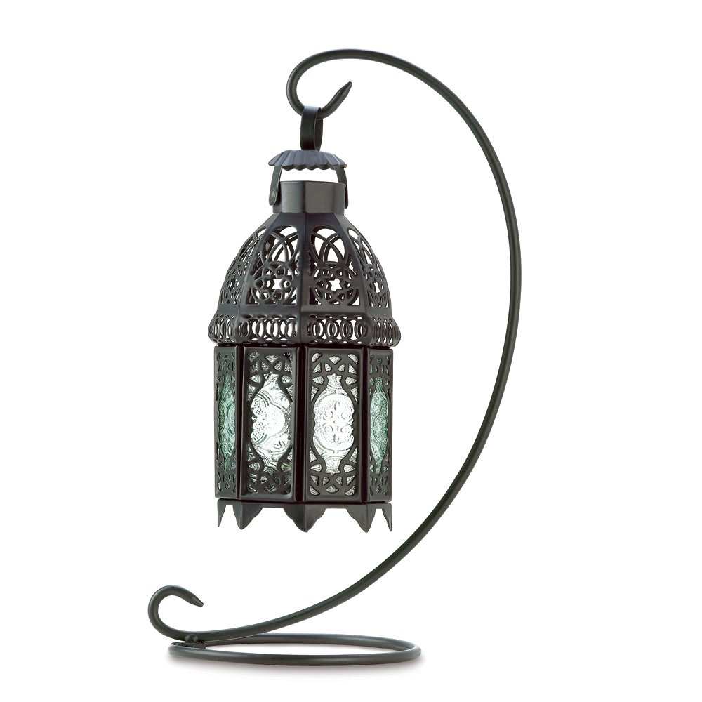 Amazon.com: Gifts U0026 Decor Moroccan Tabletop Lantern Ornate Metal Candle  Holder: Home U0026 Kitchen