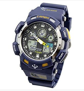 gamuttek PASNEW reloj de buceo impermeable 100 m Natación cronómetro analógico digital muñeca relojes hombres deporte