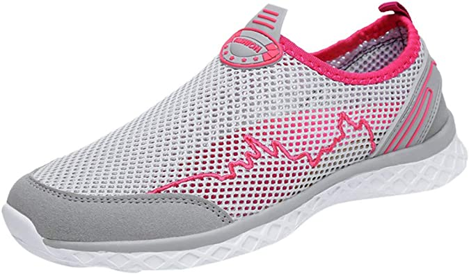 FAMILIZO Zapatillas Mujer Running Zapatillas Deportivas De Mujer Sneakers Women Primavera Par De Moda Casual Mesh Zapatos Tenis De Fondo Plano Transpirables Al Aire Libre: Amazon.es: Zapatos y complementos
