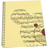 Partituras Personal, Papel de escritura de manuscrito estándar de 5 líneas para la composición de notas y símbolos…