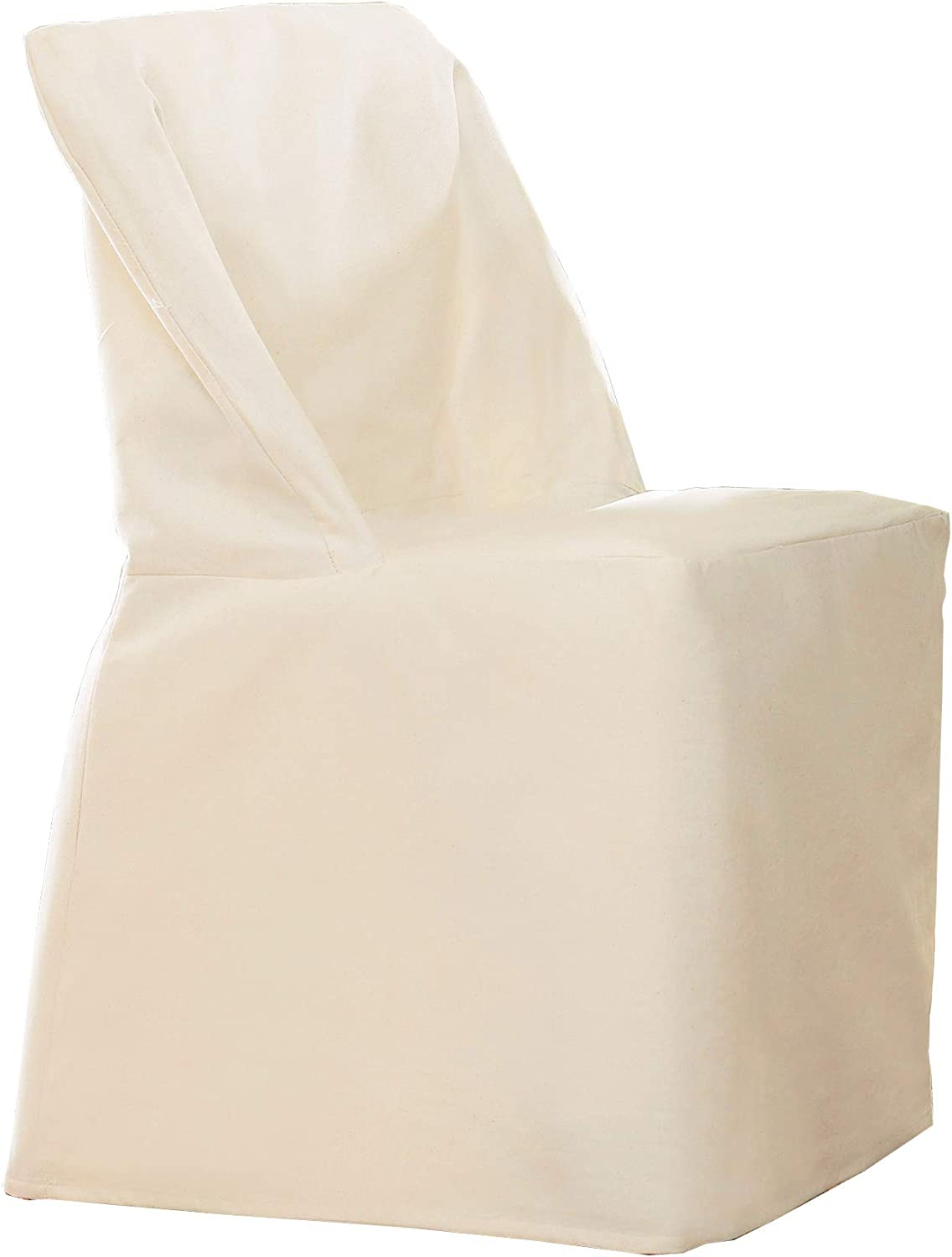 Natural NEW Sure Fit Cotton Duck Dining Room Chair Slipcover