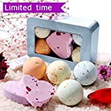Homemade Lavender Bath Bombs QQCute Bath Bombs handmade perfect gift set,Moisturizing & Best Aromatherapy, Relaxation for Skin