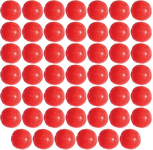KONG Squeezz Ball Medium Assorted Colors Green, Red, Blue, Purple 48pk