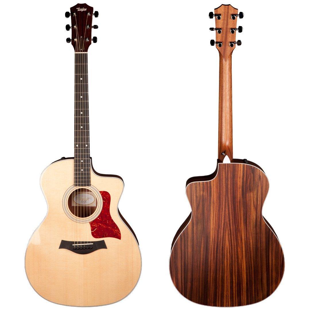 Taylor 214ce 200 Series Acoustic Guitar, Rosewood, Grand Auditorium, Cutaway, ES-T
