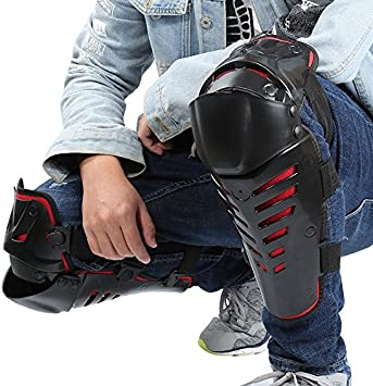 One Pair Knee Shin Guard Armour Protection Pads For Motorcycle Motocross New RM1