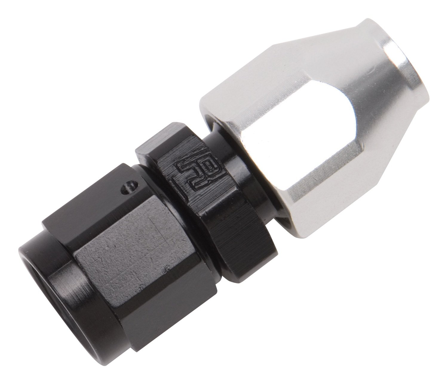 Russell 639203 Black//Silver 6 AN Female Swivel to 3//8 Aluminum Tube Fuel Line Adapter