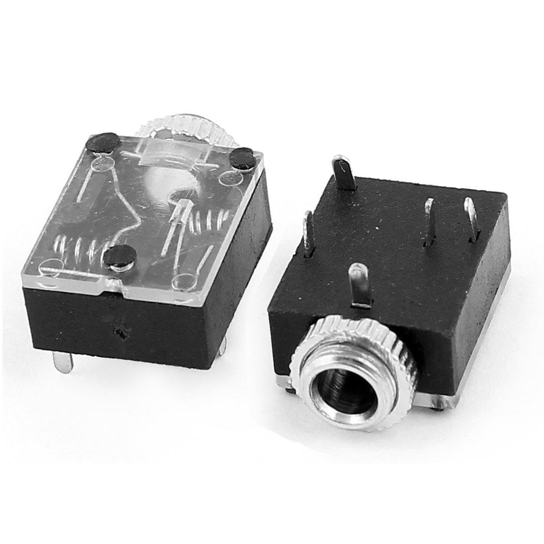 Sourcingmap/® 5 pcs 3.5mm Femelle /à 5 Broches /à souder sur int/érieur Casque st/ér/éo Prise Jack Audio