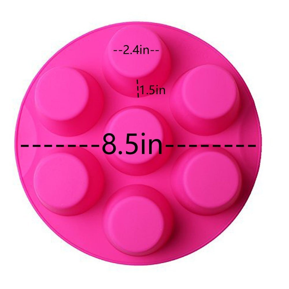 7 Hole Silicone Egg Bites Molds for Instant Pot Accessory for 5,6,8 qt Pressure Cooker, Reusable Storage Container, Best gift for Kitchen, Baking, Kids, Children. (random color Pink or green) by RUN-snail (Image #5)